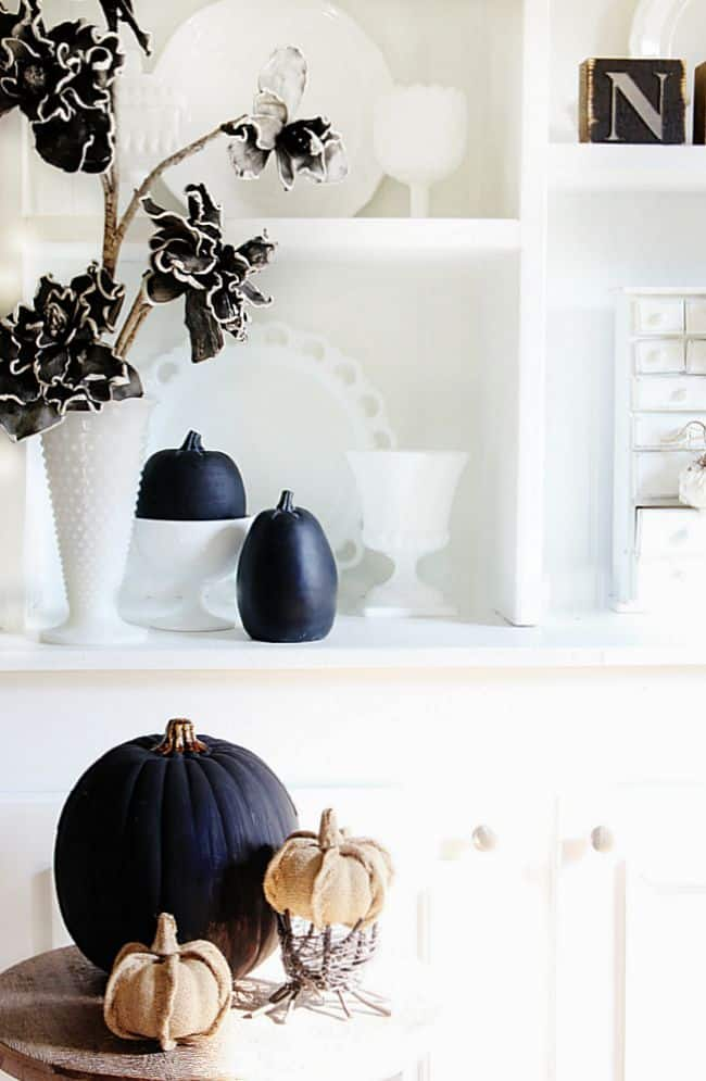 fall decor black and white