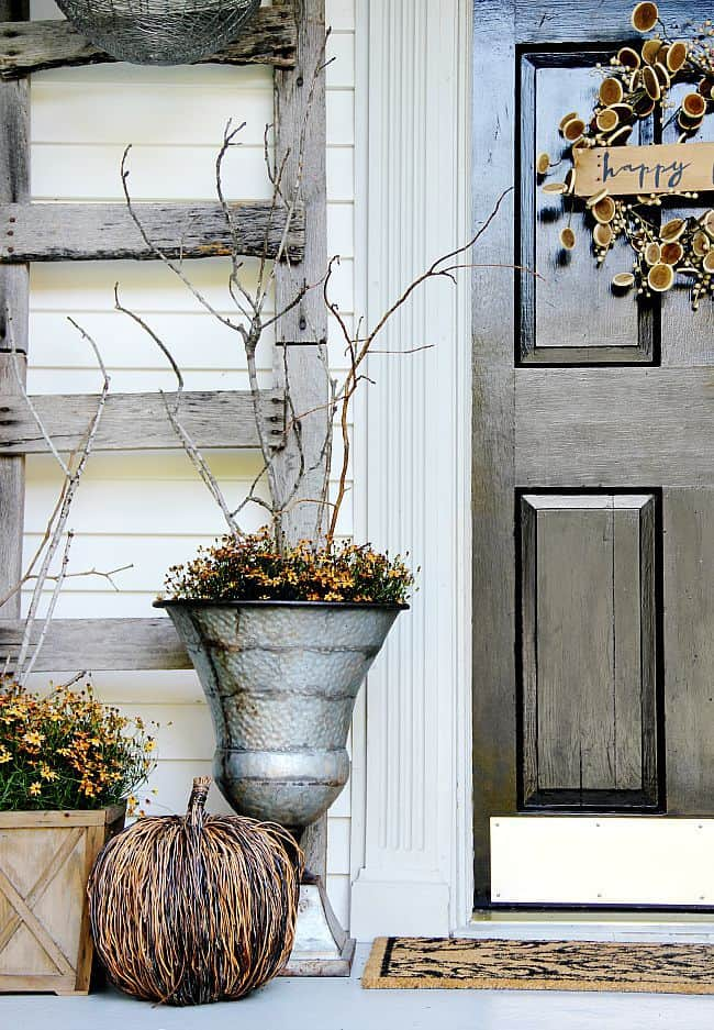 fall decorating front door ideas
