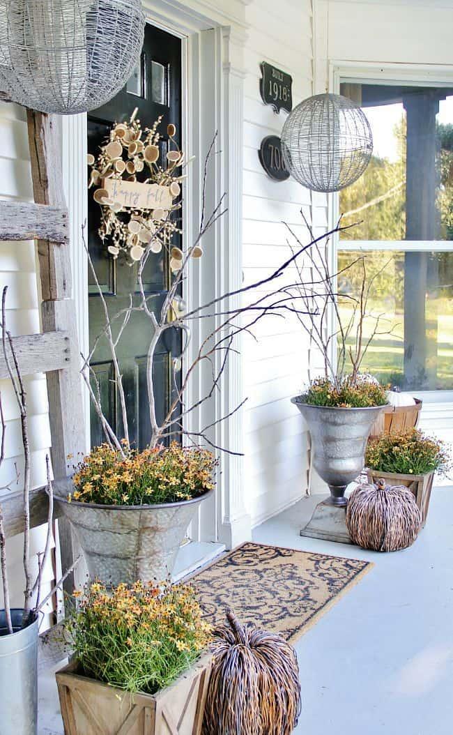 fall front door decor - Fall Decorating