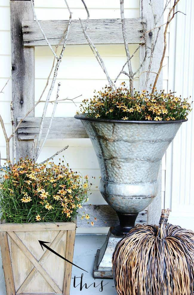 front door fall planter