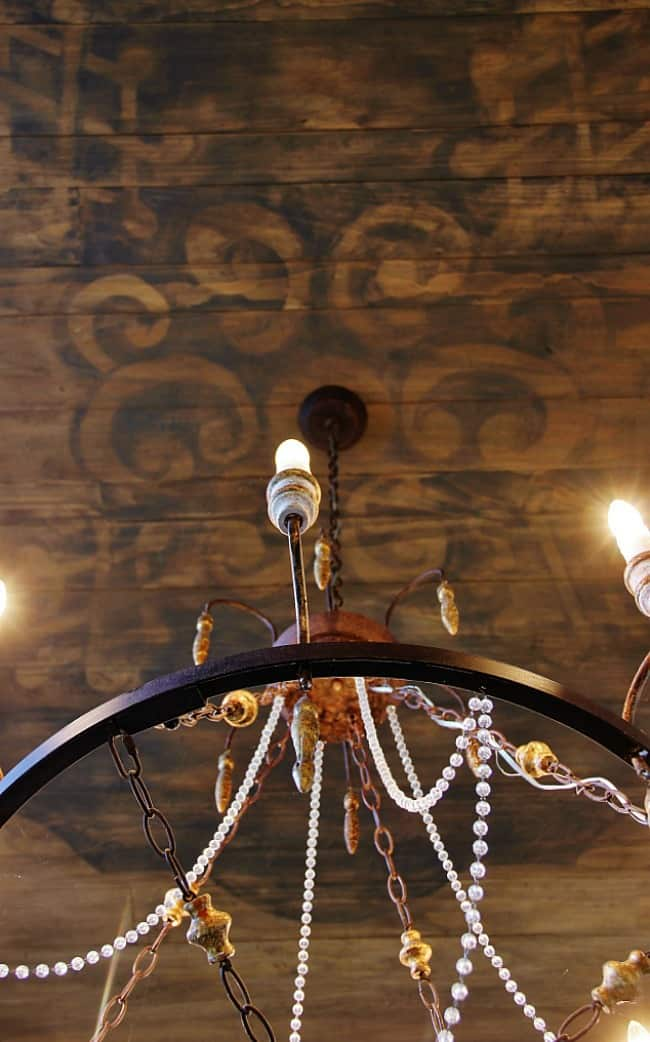 stenciled ceiling ceiling design ideas