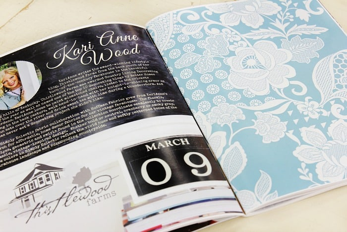 simply eclectic blue page