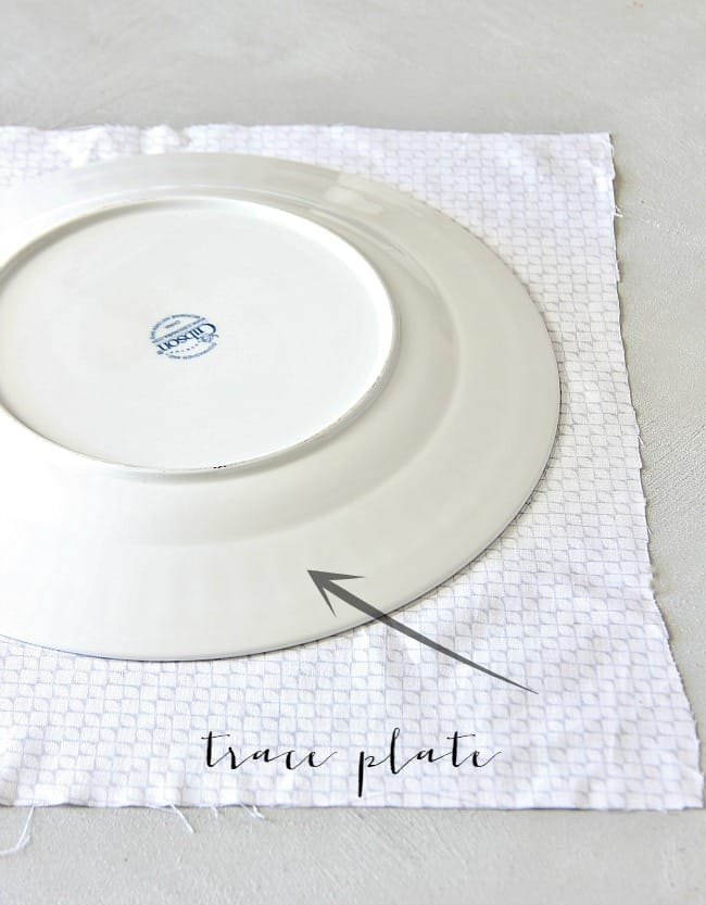 trace plate for fabric pumpkin diy
