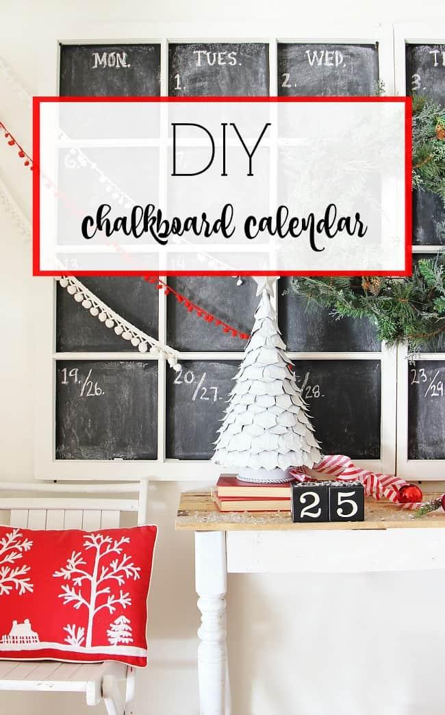 DIY Chalkboard Calendar Project