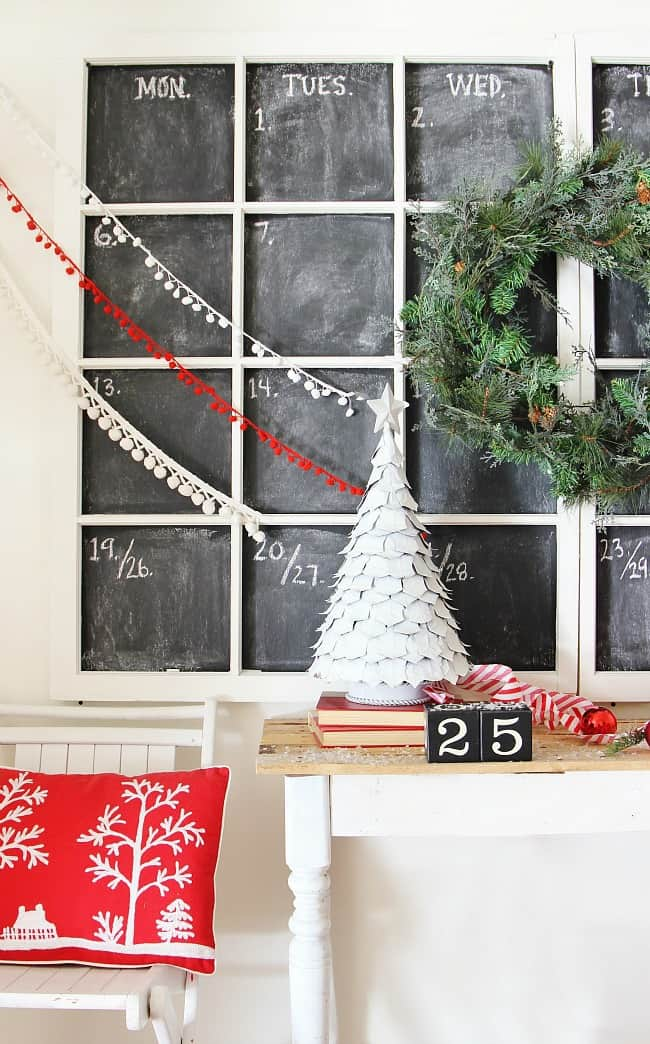 Diy Giant Calendar : Diy giant chalkboard calendar thistlewood farm