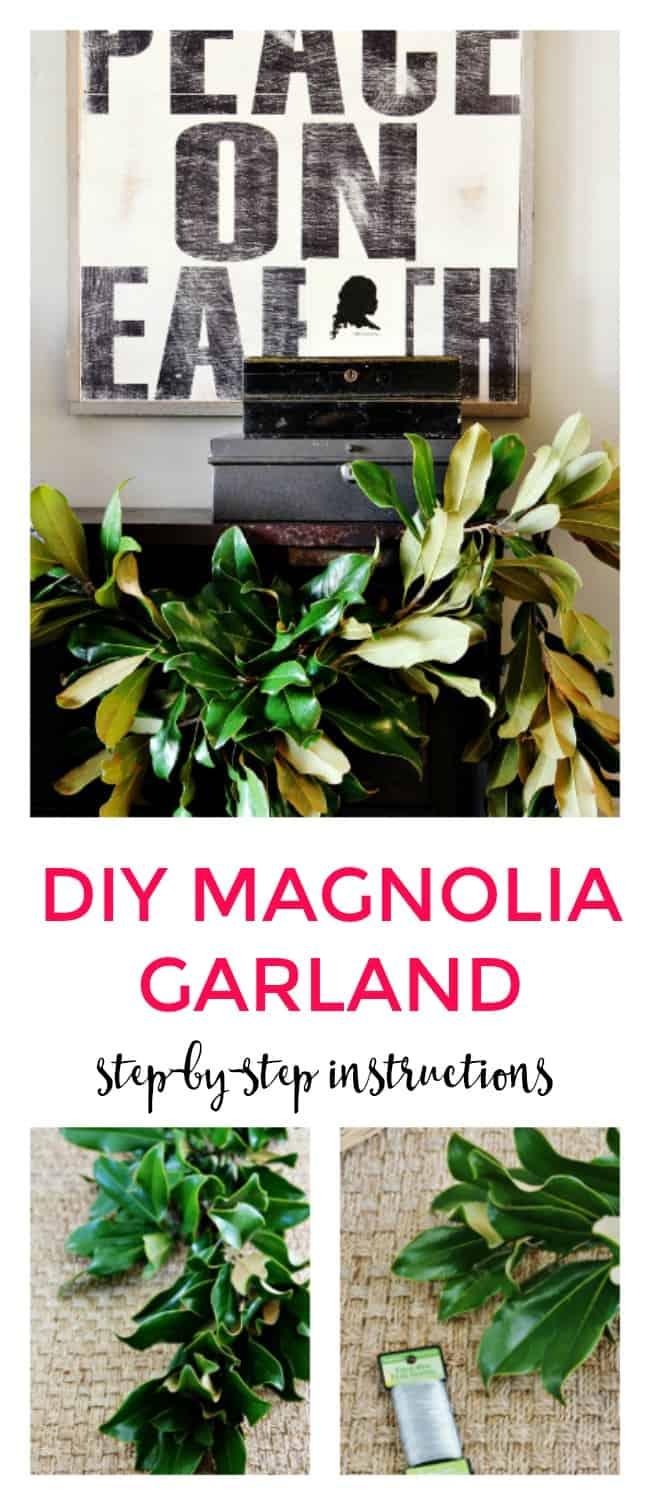 diy magnolia garland how to make