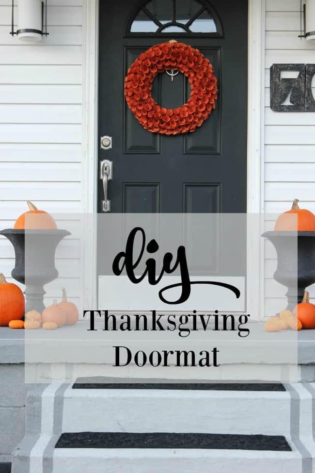DIY Thanksgiving Doormat