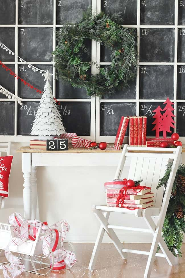 chalkboard calendar project how to