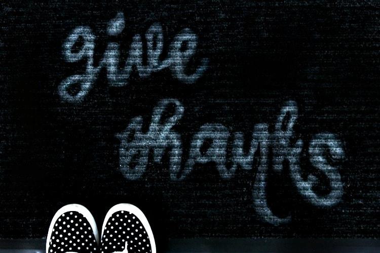 give thanks door mat