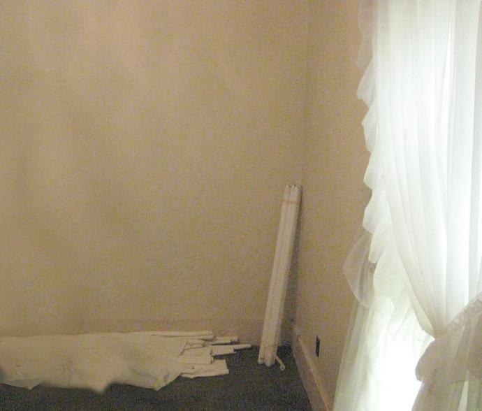 DIY shutter wall before