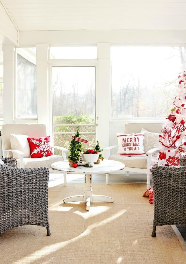 Christmas back porch
