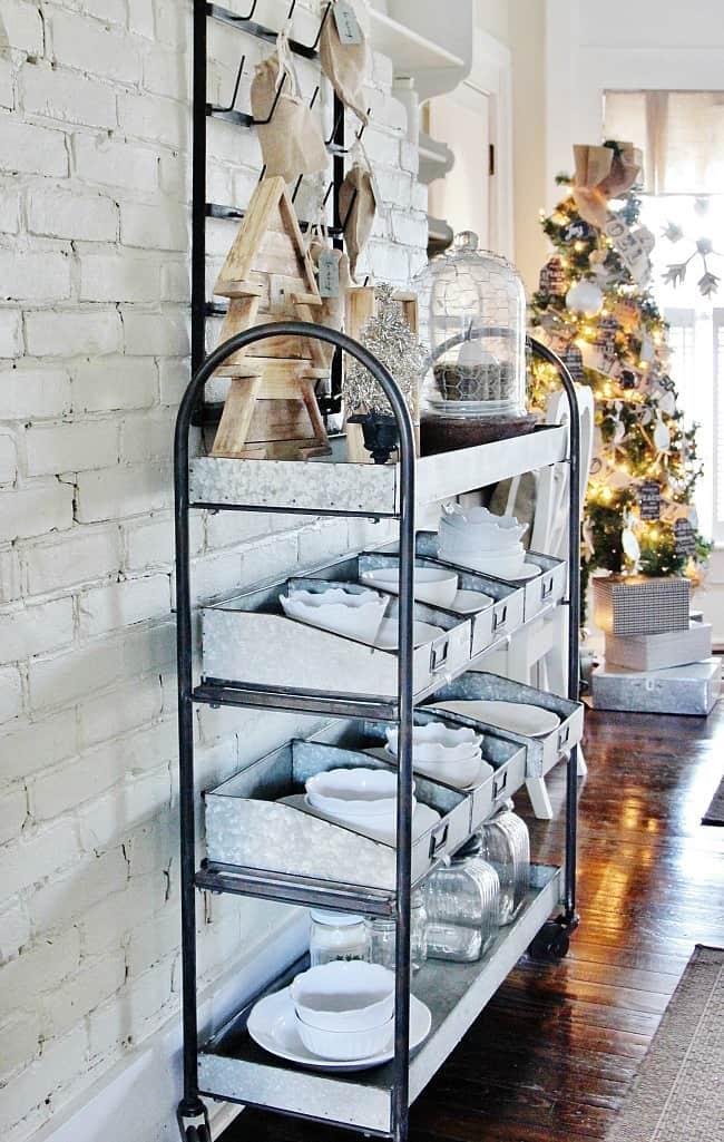 Christmas galvanized shelf