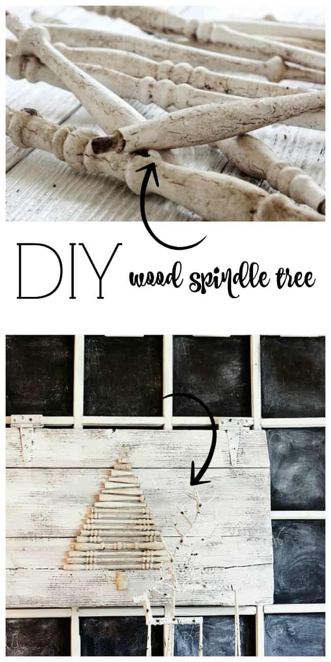 DIY Wood Spindle Tree