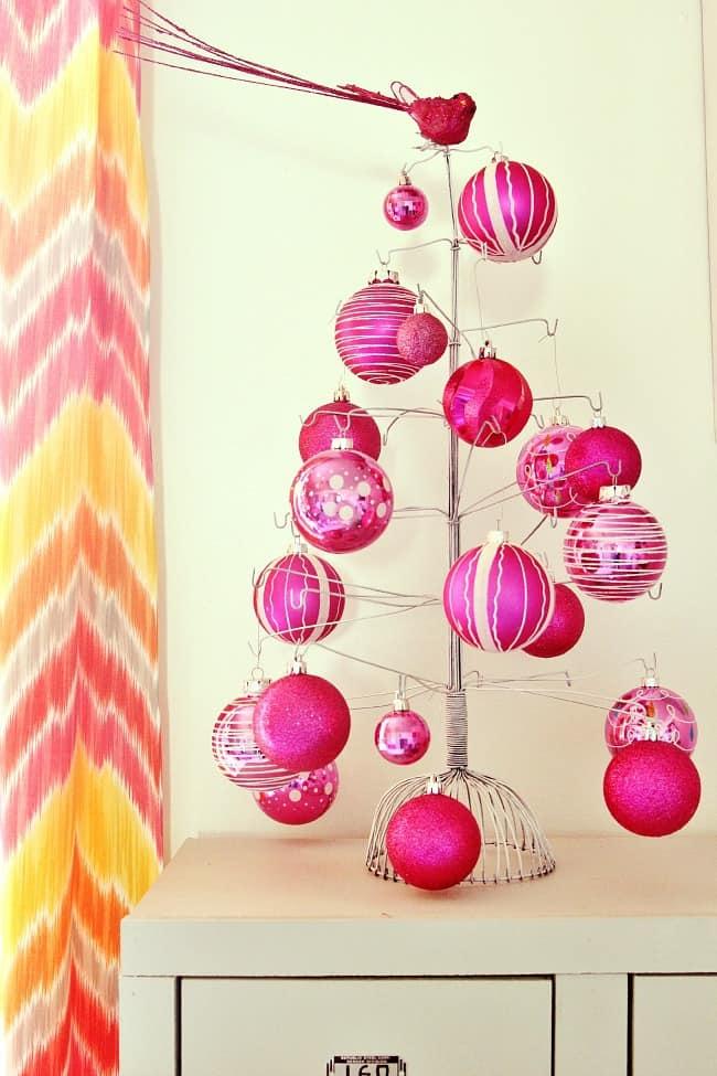 pink ornament tree