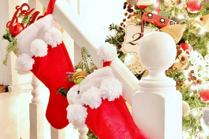 DIY Pom-Pom Stockings