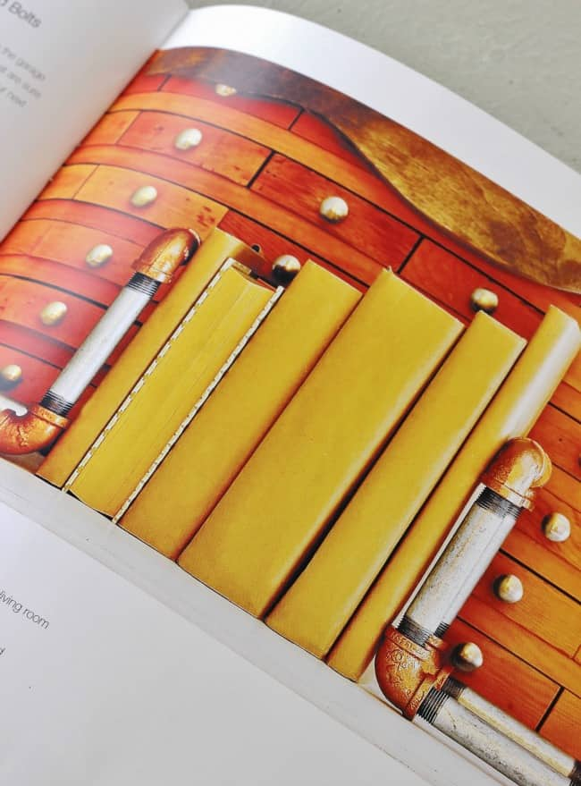 Copper Hardware Bookends Project