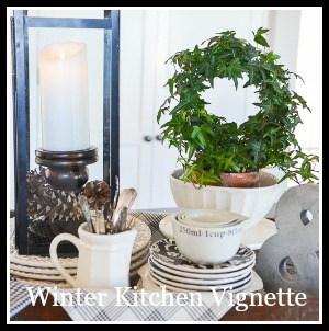DIY TIPS AND TRICKS CREATING A WINTER KITCHEN VIGNETTE-button-stonegableblog-2