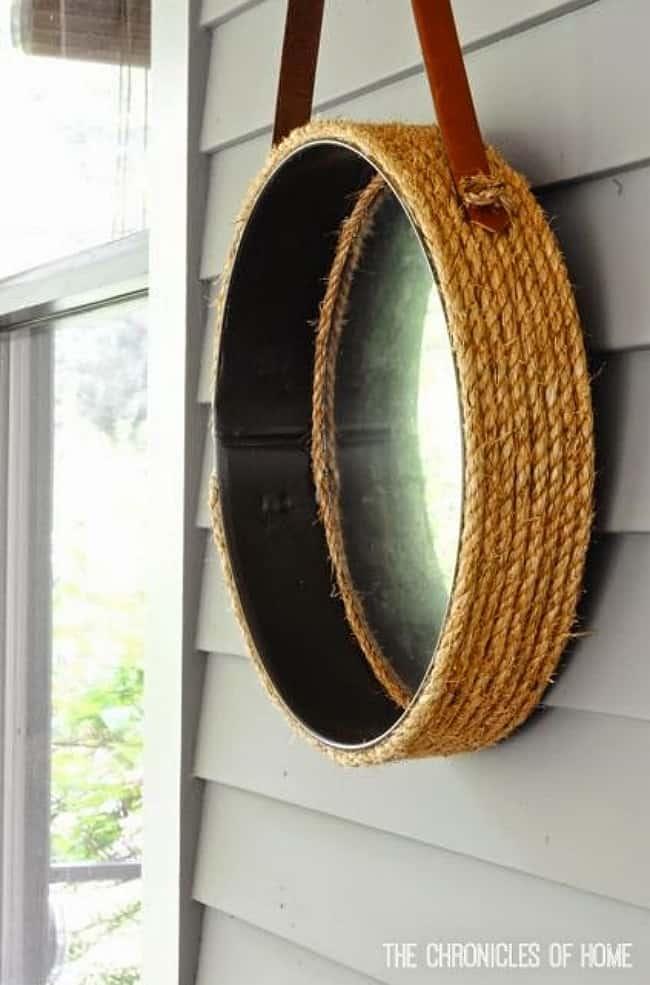 DIY rope mirror project