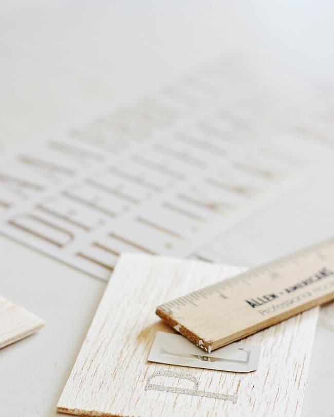 balsa wood tag project