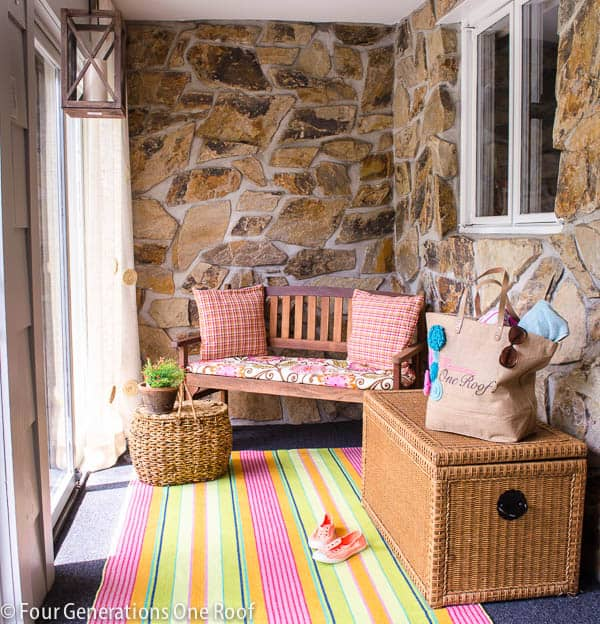 foyer-summer-upate-with-pink-striped-rug-1