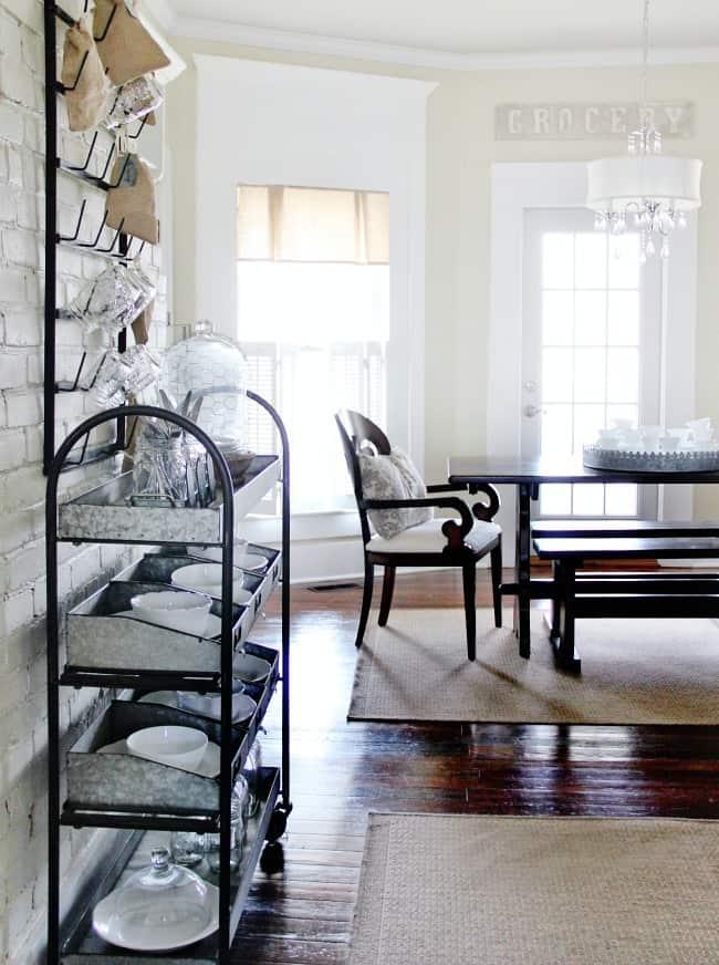kitchen galvanized rack