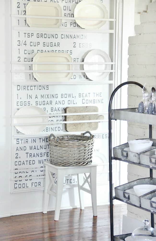 recipe wall kitchen