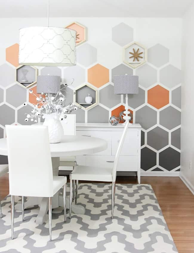 Geometric Hexagon Room after