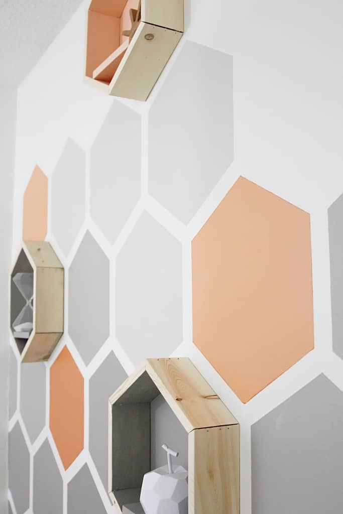 Painted Wall Ideas Diy Ombre Hexagon Wall Thistlewood Farm