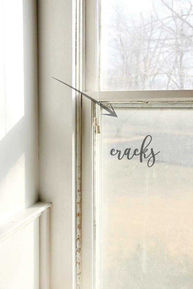 cracks in window