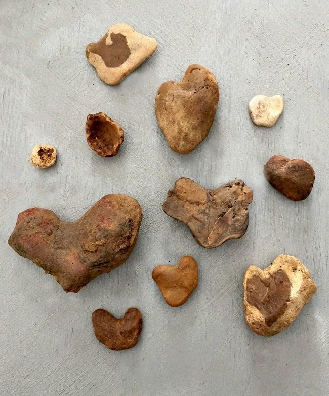 heart rocks valentines day