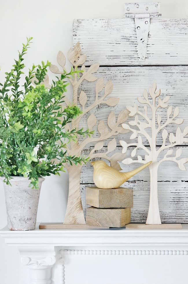 spring mantel ideas rustic