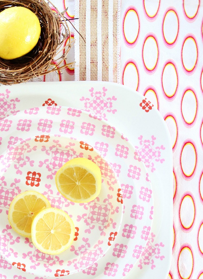patterned dishes for spring