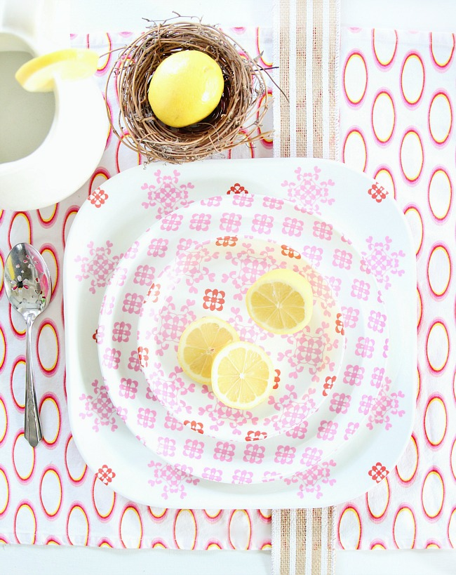 place setting spring ideas