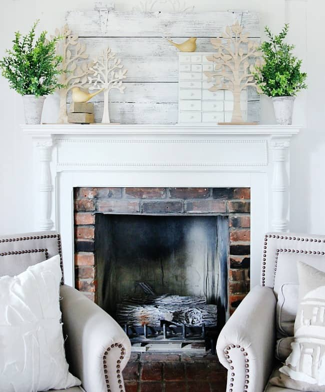Easy Spring Mantel Decorating Ideas Thistlewood Farms