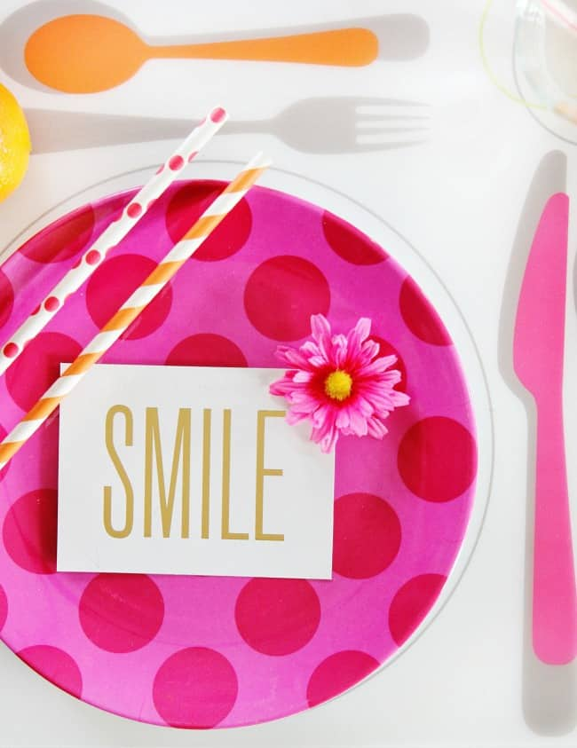 spring place setting ideas