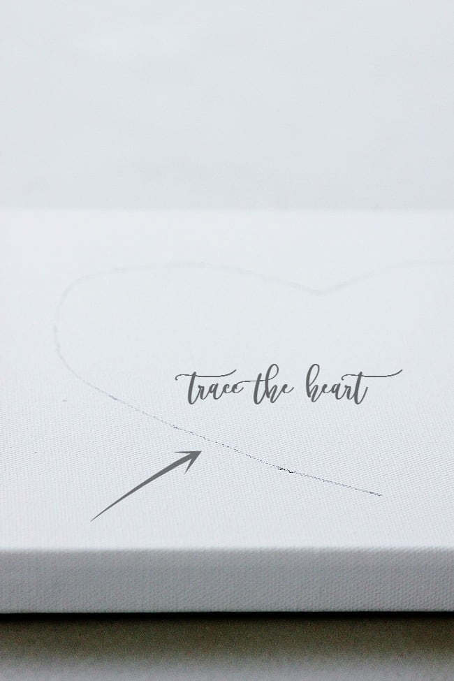 trace a heart