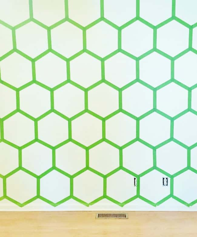 painted wall ideas Hexagon Wall Before Paint Picture