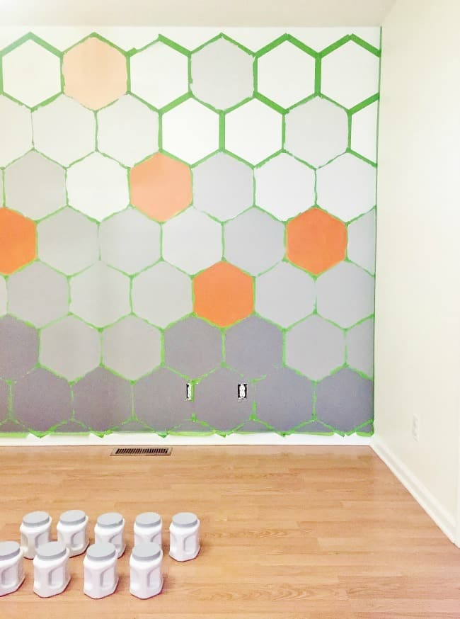 Hexagon Wall Painting Ideas