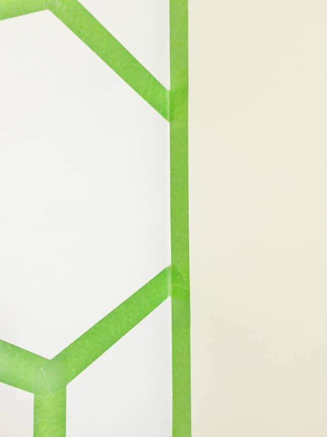 Hexagon Wall Taped Wall Picture