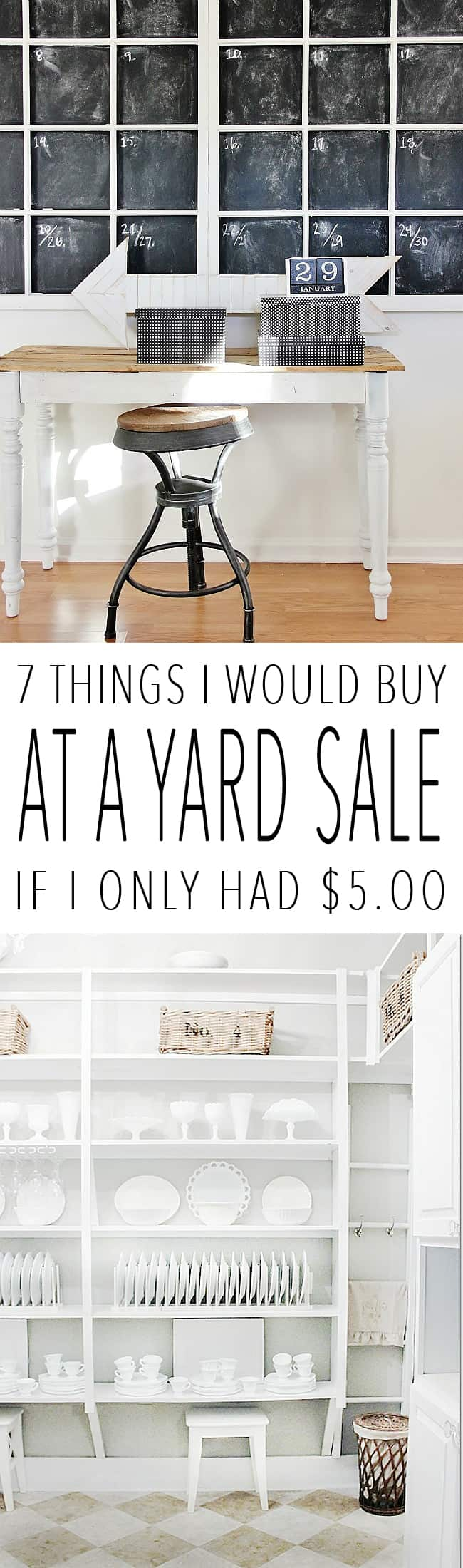 Seven things to buy at a yard sale if you only had $5