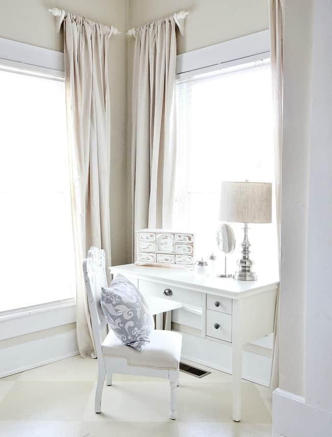 desk in master bedroom