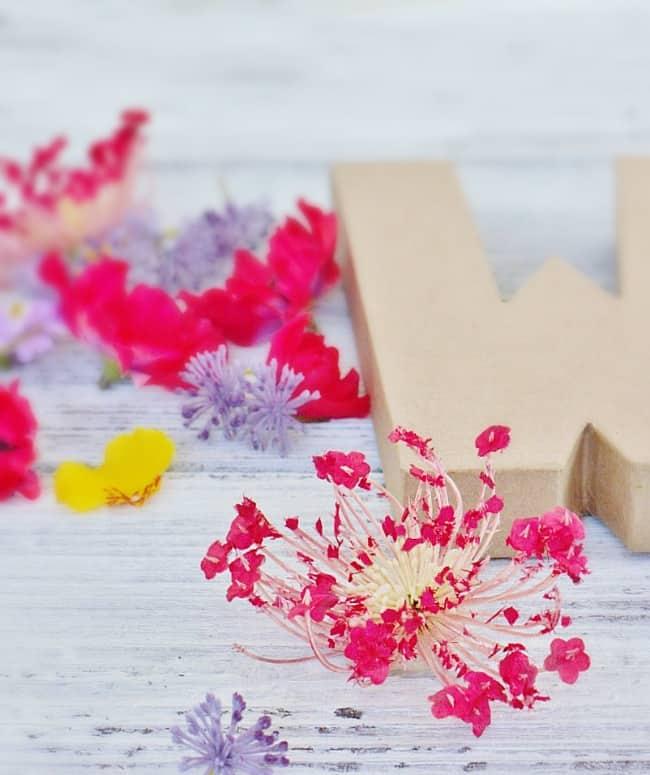 how to make a flower monogram
