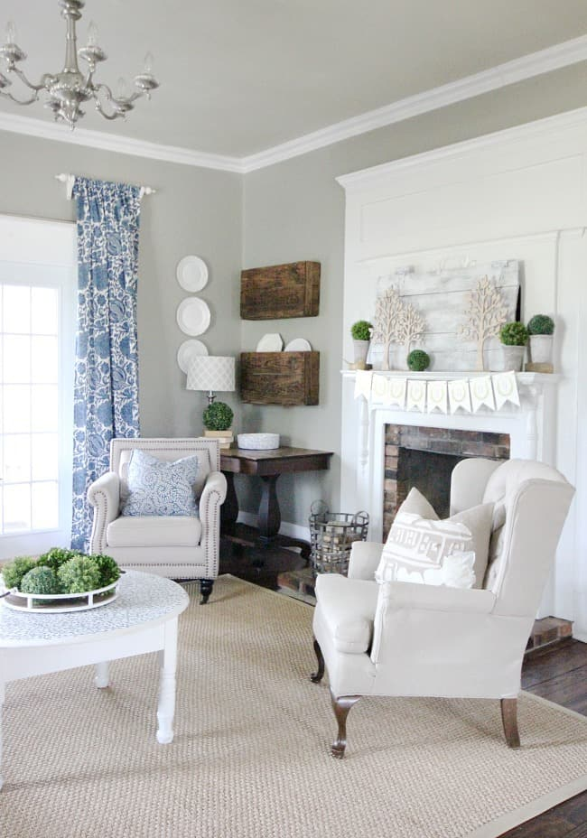 living room spring decorating