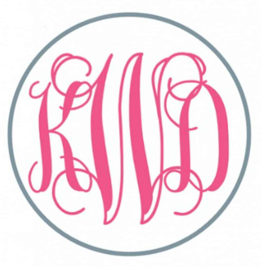 circle monogram for monogram projects