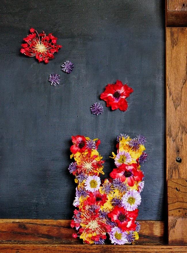 nogram letter with chalkboard