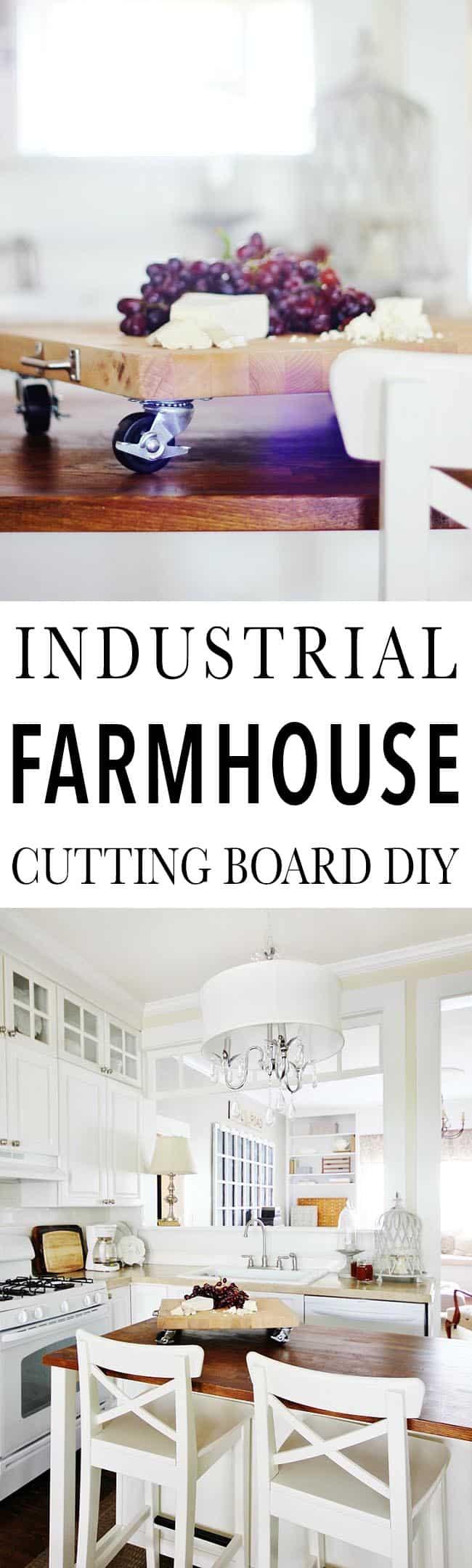 Industrial Farmhouse Cutting Board Diy And A Brilliant Idea Thistlewood Farm