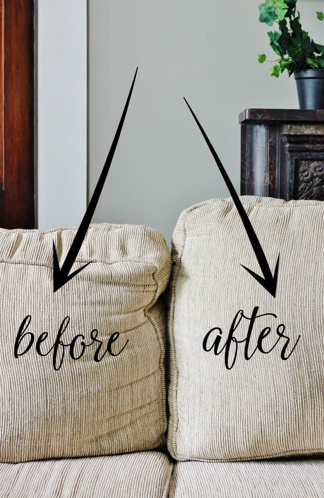 before and after couch cushions how to fix sagging couch cushions
