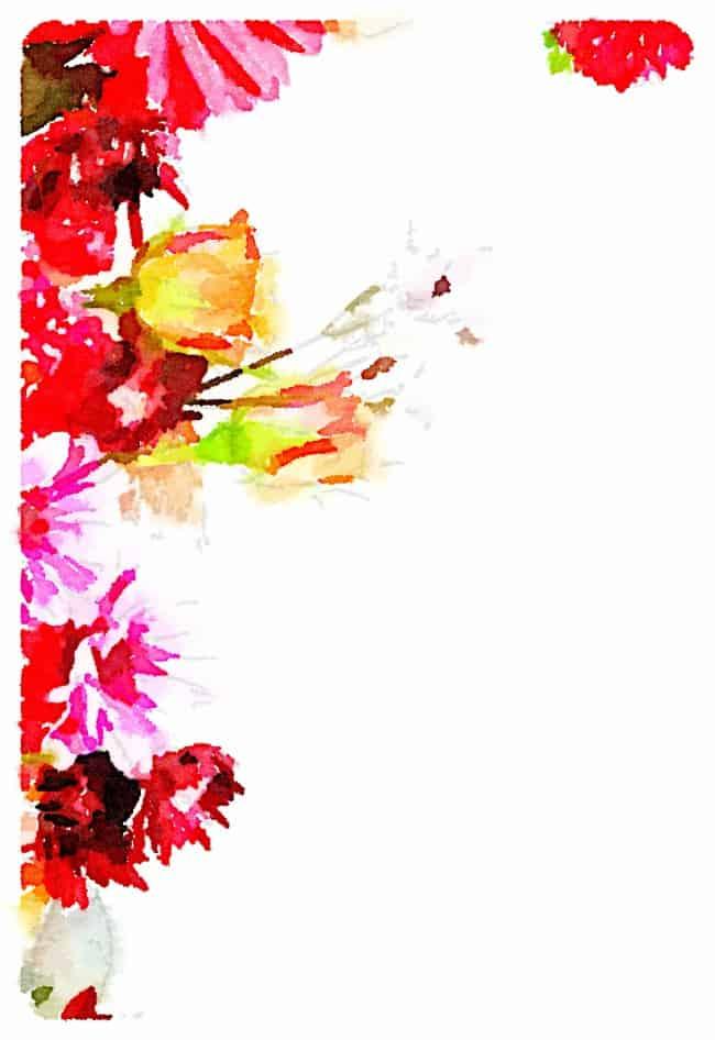 flower printable three