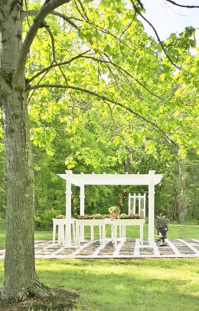 pergola with gardens before and after backyard