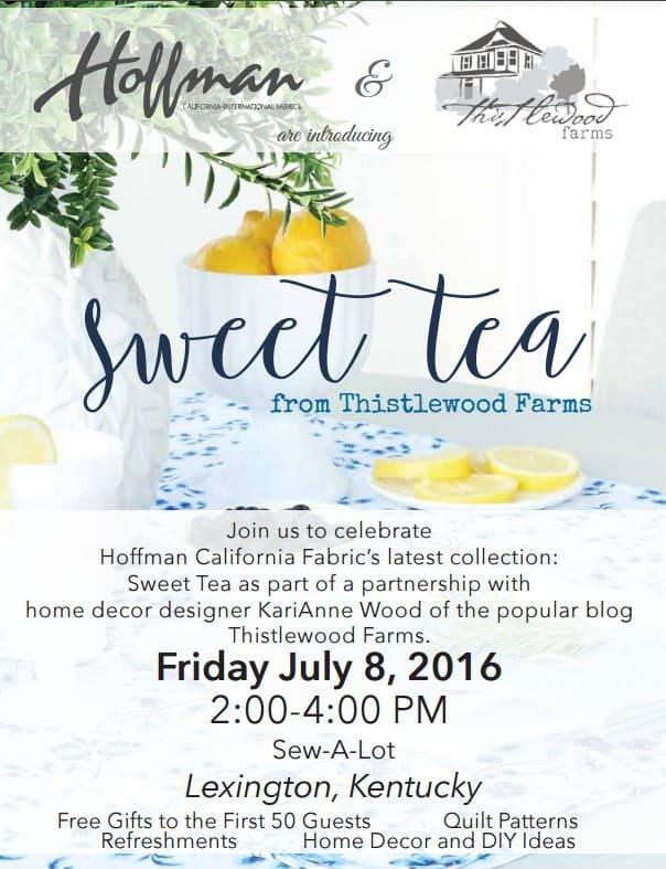 Sweet Tea July 8
